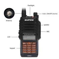 """מכשיר הקשר שני איכות גבוהה Baofeng UV-9R פלוס מכשיר הקשר IP68 8W Waterproof 10 ק""""מ טווח Dual Band UHF VHF שני הדרך רדיו Comunicador סורק (5)"""