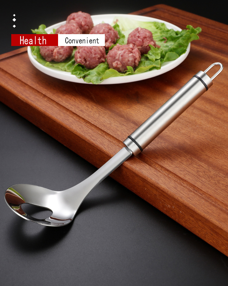 Meat Baller Mold Kitchen Gadgets Non-Stick Meatball Maker Spoon with Elliptical Leakage Hole Kitchen Utensil Gadget Meat Tool