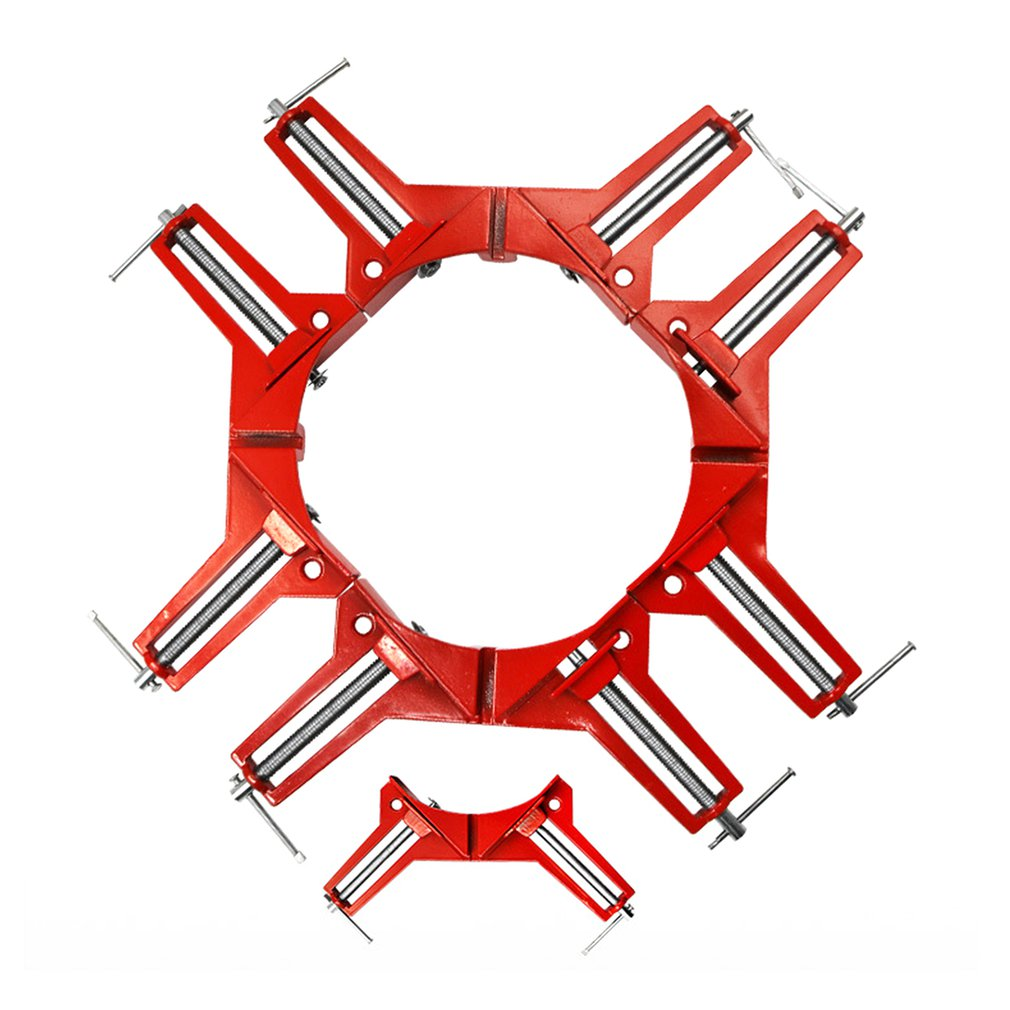 90 Degree Clip,Right Angle Clip,Frame Corner Clamp,Mitre Clamps,Corner Holder Woodworking Tool Aluminum 1 1 1set
