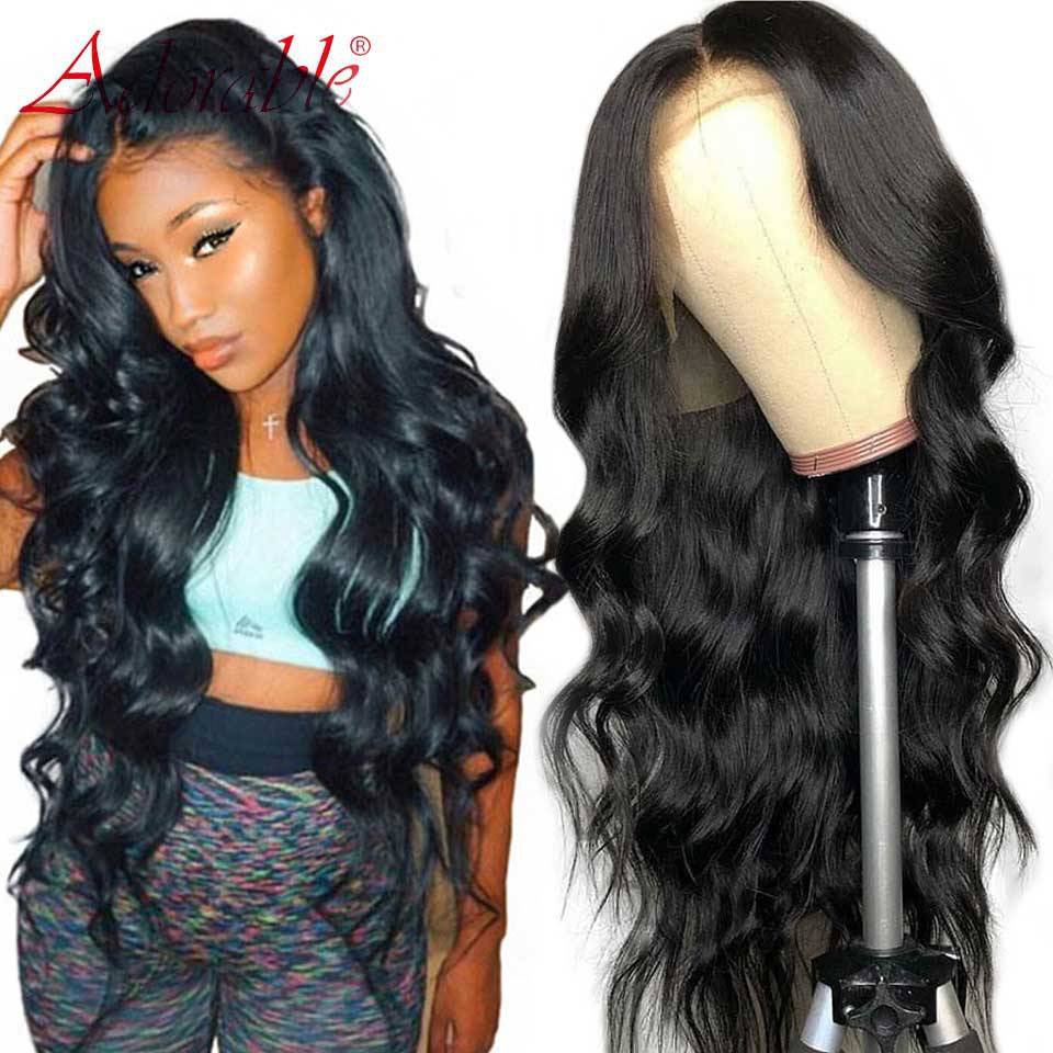 180% Body Wave Lace Front Human Hair Wigs Pre Plucked Brazilian 100% Human Hair Wigs With Baby Hair Non Remy For Black Women
