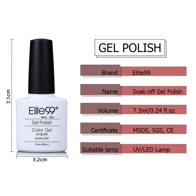 Elite99 12Pcs Klassische Gel Polish Set 7,3 ML Volle Maniküre Set Gel Nagel Gel Polieren Alle Für Nail art kit Tränken Weg Maniküre