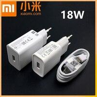 Xiaomi cargador 18W QC 3,0 Original adaptador de corriente de carga rápida 3A Usb tipo C para mi 9 9se a2 mezclar 2 s redmi note 7 8 9 pro