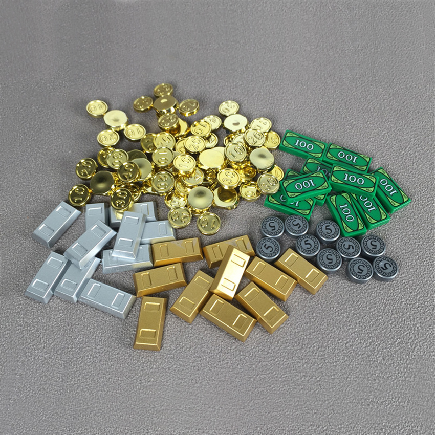 DIY Kids Toys Toy-Brick Figure-Accessories Building-Blocks Coin-Coin Legoingly MOC Gold title=
