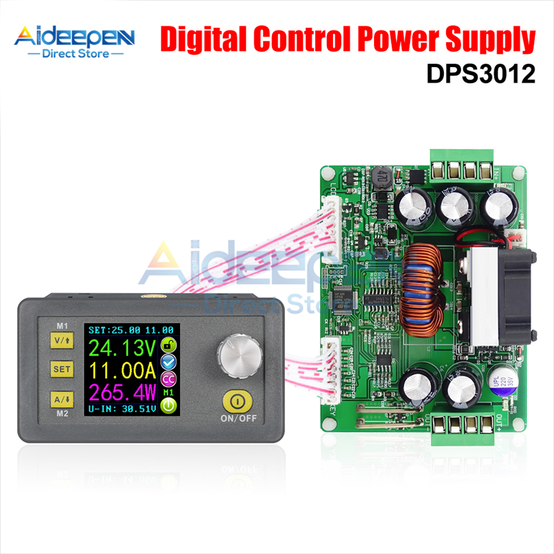 DPS3012 32V 12A CNC DC Adjustable Power Supply Step-Down Converter Module Constant <font><b>Voltage</b></font> Current Voltmeter LCD Color Display image