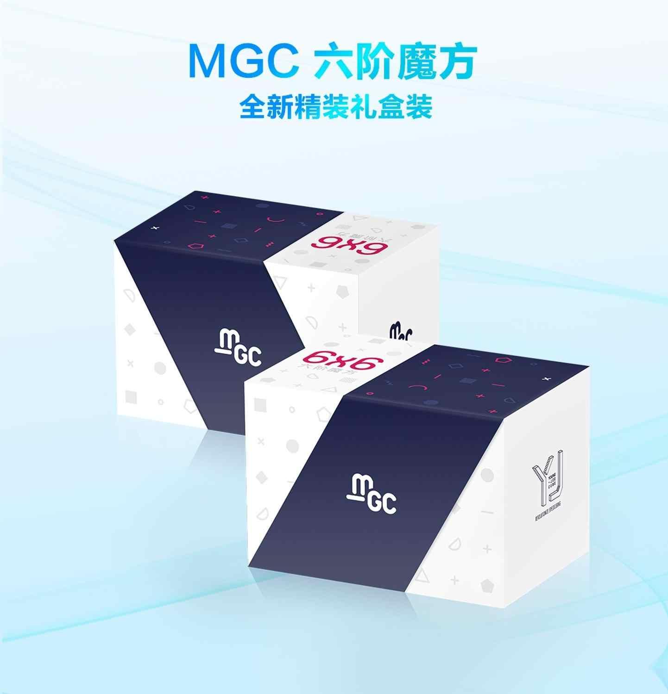 Оригинальный магнитный Магический кубик YJ MGC 6x6, магнитный Магический кубик yongjun MGC 6, магнитный кубик-головоломка, скоростные кубики, обучающие игрушки для детей