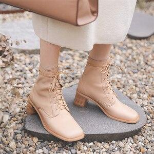 Image 5 - FEDONAS Qualidade Confortável pele de Carneiro Das Mulheres Tornozelo Botas De Marca Inverno Quente Botas Curtas Grande Tamanho da Fêmea Do Partido Sapatos Mulher Do Hight