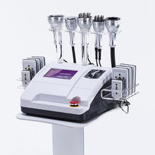 8in1 Cavitation vide RF bipolaire trois polaire multipolaire Led Photon 8 tampons Lipo Laser minceur Machine(China)