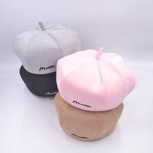 Fashion Women Letter Suede Berets Femme Autumn Retro Embroidery Artist Painter French Hats For Warm Pumpkin Caps
