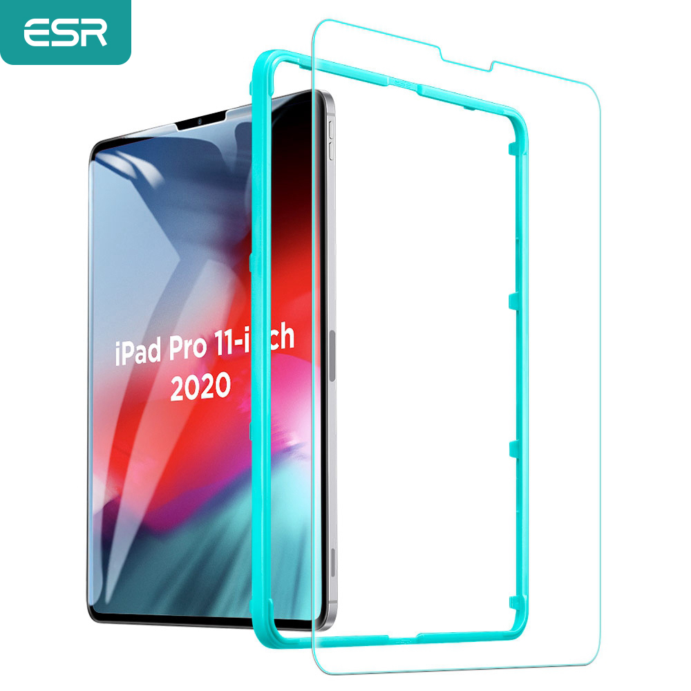 ESR 1PC Tempered Glass for 2020 iPad Pro 11   12 9   Inch HD Ultra Clear High Definition 1X 2X Screen Cover for iPad 12 9 Film