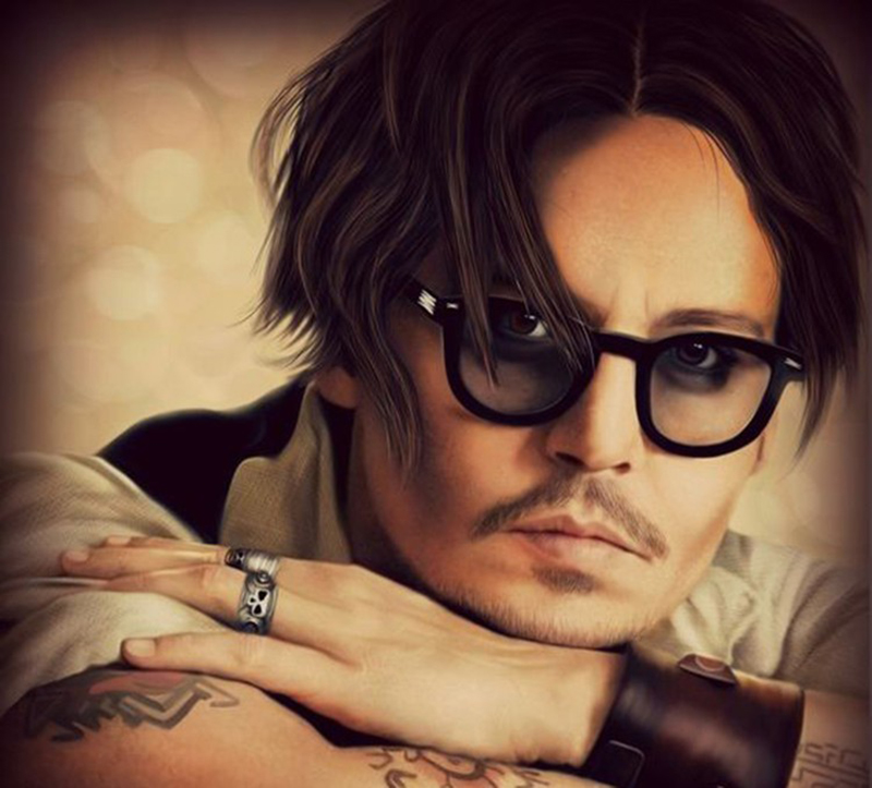 Johnny Depp Style Glasses Small Men Retro Vintage Prescription Glasses Women Optical Spectacle Frame Clear Lens Eye Glasses