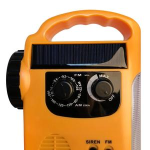 Image 5 - 야외 비상 핸드 크랭크 솔라 디나모 라디오 휴대용 am fm 라디오 전화 충전기 13 led 손전등 비상 램프