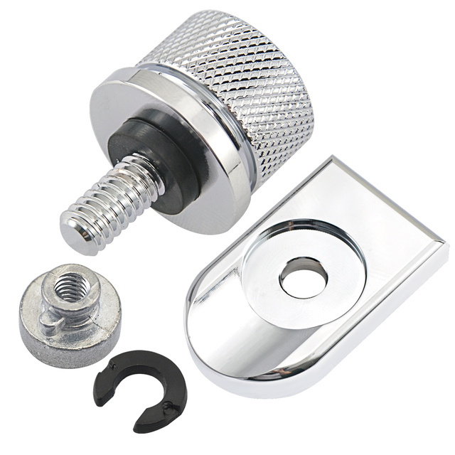 Motorcycle Rear Fender Seat Bolt Seat Screw Nut Kit Mount Knob Cover Nut for Harley Motorbikes '96-'19