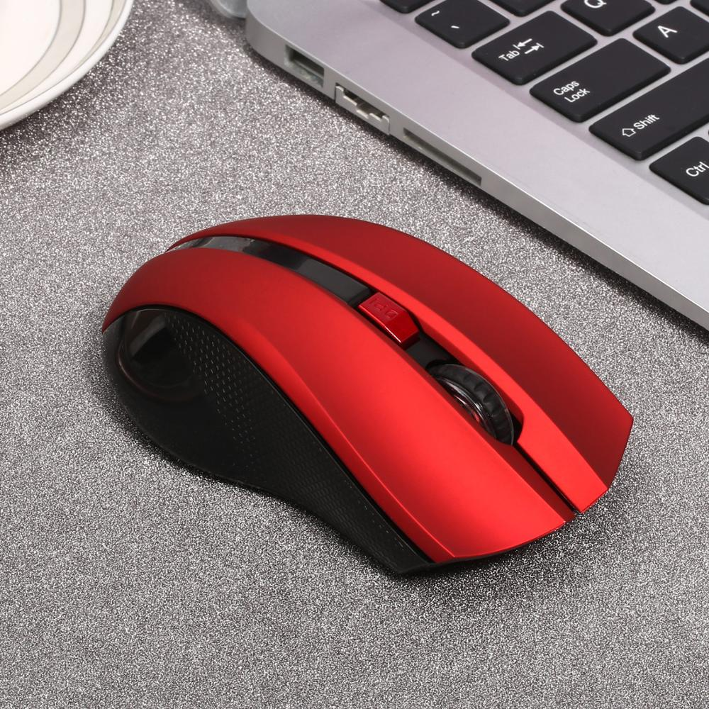 2.4GHz Wireless Optical Mouse Gamer New Game Wireless Mice With USB Receiver For Computer PC Gaming Laptops Rechargeable Mouse