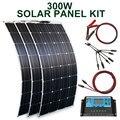 Solar panel kit und 300w 200w 100w flexible solar panels 12v 24v hohe effizienz batterie ladegerät modul