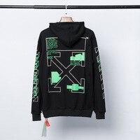 The Last Of Us Part 2 green printed arrows (black white) european version top Streetwear men women off white Hoodie Sweatshirt