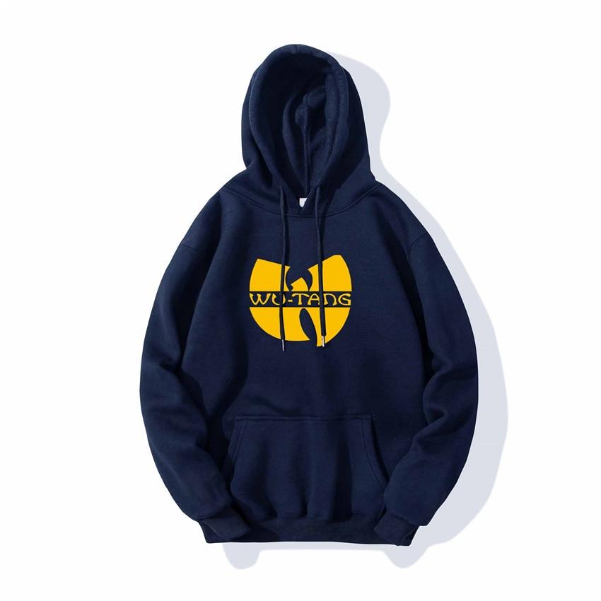 Mens Hoodies Sweatshirts Casual Sportswear Hoodies 2020 Spring Male Hip Hop Long Sleeve Hooded Coats Wu Tang Logo Design Hoodies