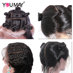 Image 4 - Full Lace Human Hair Wigs Glueless Full Lace Wig Pre Plucked With Baby Hair Brazilian Body Wave 150 180 250 Density Remy You May