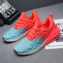 Fashion couple models air cushion tide shoes increase large size cross border ins super fire net red Korean couple tide shoes