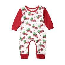 Ползунки на Рождество для новорожденных девочек и мальчиков; одежда с Санта-Клаусом; комбинезон с длинными рукавами; комплект одежды