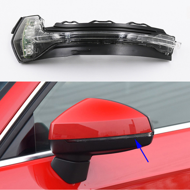 Side Wing Mirror Turn Signal Light LED Rearview Mirror Indicator Blinker Light For AUDI A3 S3 2014-2019 RS3 2017-2018 image