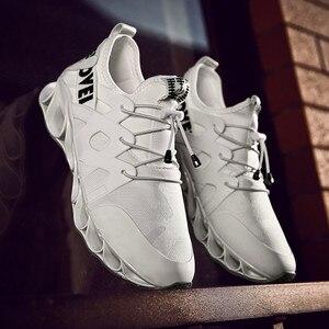 Image 3 - Zapatos deportivos de malla cómodos para hombre, calzado informal con absorción de impacto, zapatos de entrenamiento transpirables, zapatos de malla con cordones