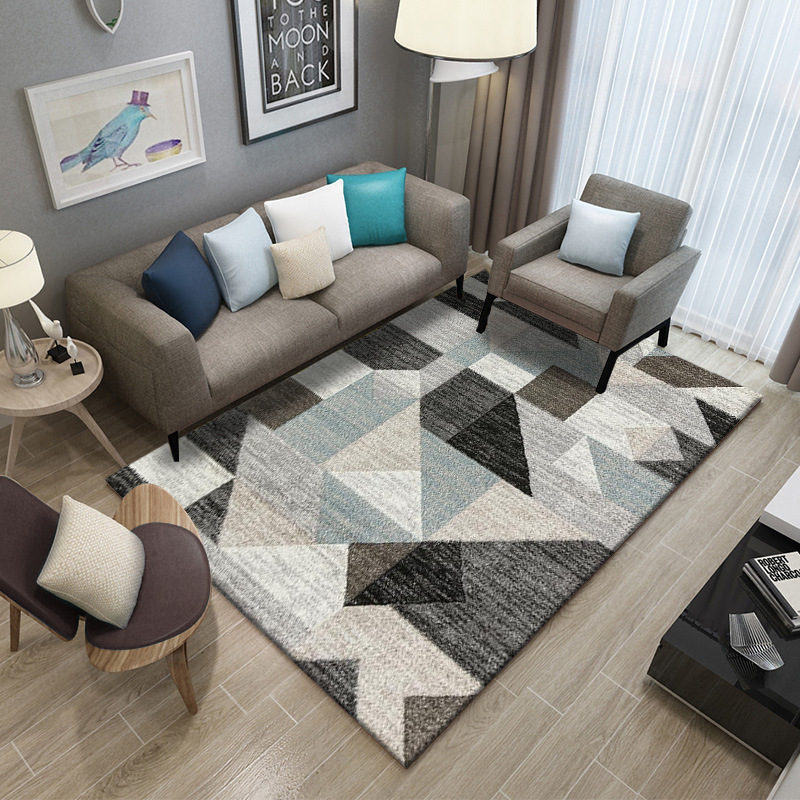 Image 4 - Simple Carpet Rug For Living Room Geometric Wood Floor Rug Non slip Antifouling Carpet For Bedroom Parlor Factory Direct Supply-in Carpet from Home & Garden