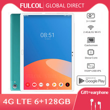 2021 mais novo Tablet PC Android 10.5 Polegada MT6797 Deca Núcleo 13/5MP Dual 4G LTE 6GB de RAM 128GB ROM 1920*1200 IPS 2.5K Comprimidos планшет