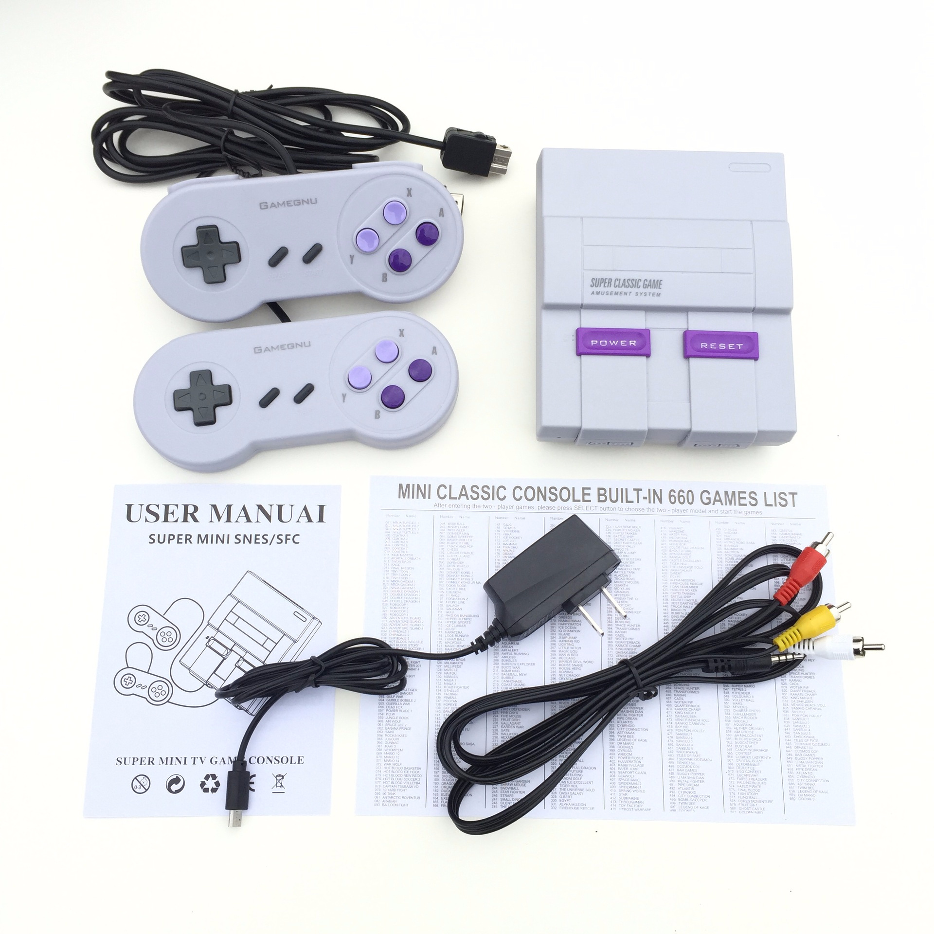 Mini retro super classic game console built-in 620 games handheld game TV 8-bit home TV video game console gift