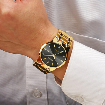 2020 WWOOR Diamond Watches Mens Top Brand Luxury Gold Black Date Quartz Watch For Men Fashion Dress Wrist Watches relojes hombre 2020 new luxury diamond gold black watch men wwoor top brand fashion business men watches gold quartz waterproof auto date clock