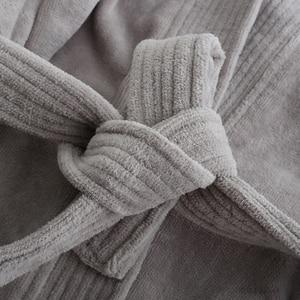 Image 5 - Star hotel 100% algodão suor toalha de banho roupões homens plus size inverno quimono quente roupão de banho dos homens terry sleepwear