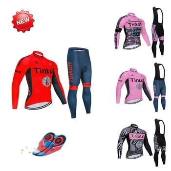 2020 deporte primavera otoño Saxo Banco Tinkoff Ciclismo Jersey Ropa Ciclismo Mtb...
