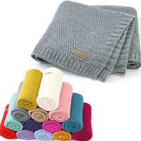 Manta tejida para bebé recién nacido, manta para envolver, edredón de cama súper suave para niño pequeño, para cama, sofá, cochecito de cesta, mantas