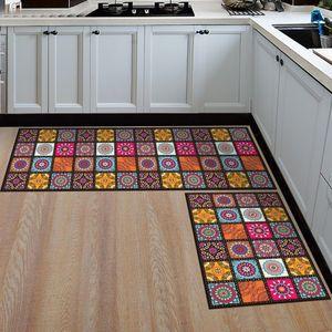 Image 2 - Kitchen Mat Cheaper Anti slip Modern Area Rugs Living Room Balcony Bathroom Printed Carpet Doormat Hallway Geometric Bath Mat