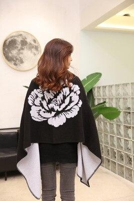 Новинка, роскошный брендовый женский зимний шарф, теплая шаль, женское Клетчатое одеяло, вязанное кашемировое пончо, накидки для женщин, echarpe - Цвет: style 8