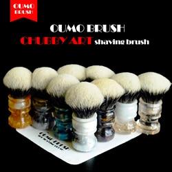 OUMO BRUSH- 2019/8/1 CHUBBY  Art shaving brush with SHD bulb Manchuria badger knot gel city 26MM