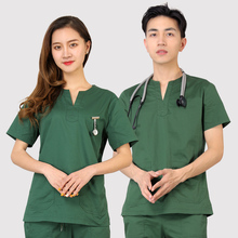 Operating room hand-washing clothes pure cotton dental overalls brush hand clothing men and women in separate suits