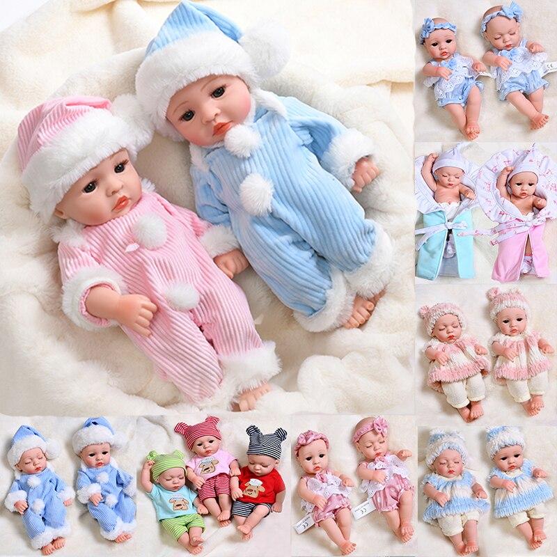 30CM Schlaf Reborn Baby Puppe Volle Silikon Bad Spielen Körper Baby Puppen Waterhahn Weich Lebensechte Echt Bebe Spielzeug KEINE haar mädchen Puppe
