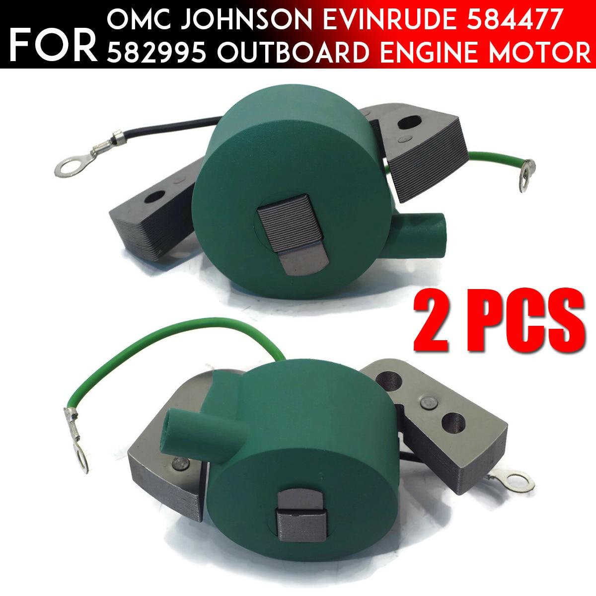 1/2 шт., катушка зажигания для подвесного двигателя Johnson evinгруб 580118 584477