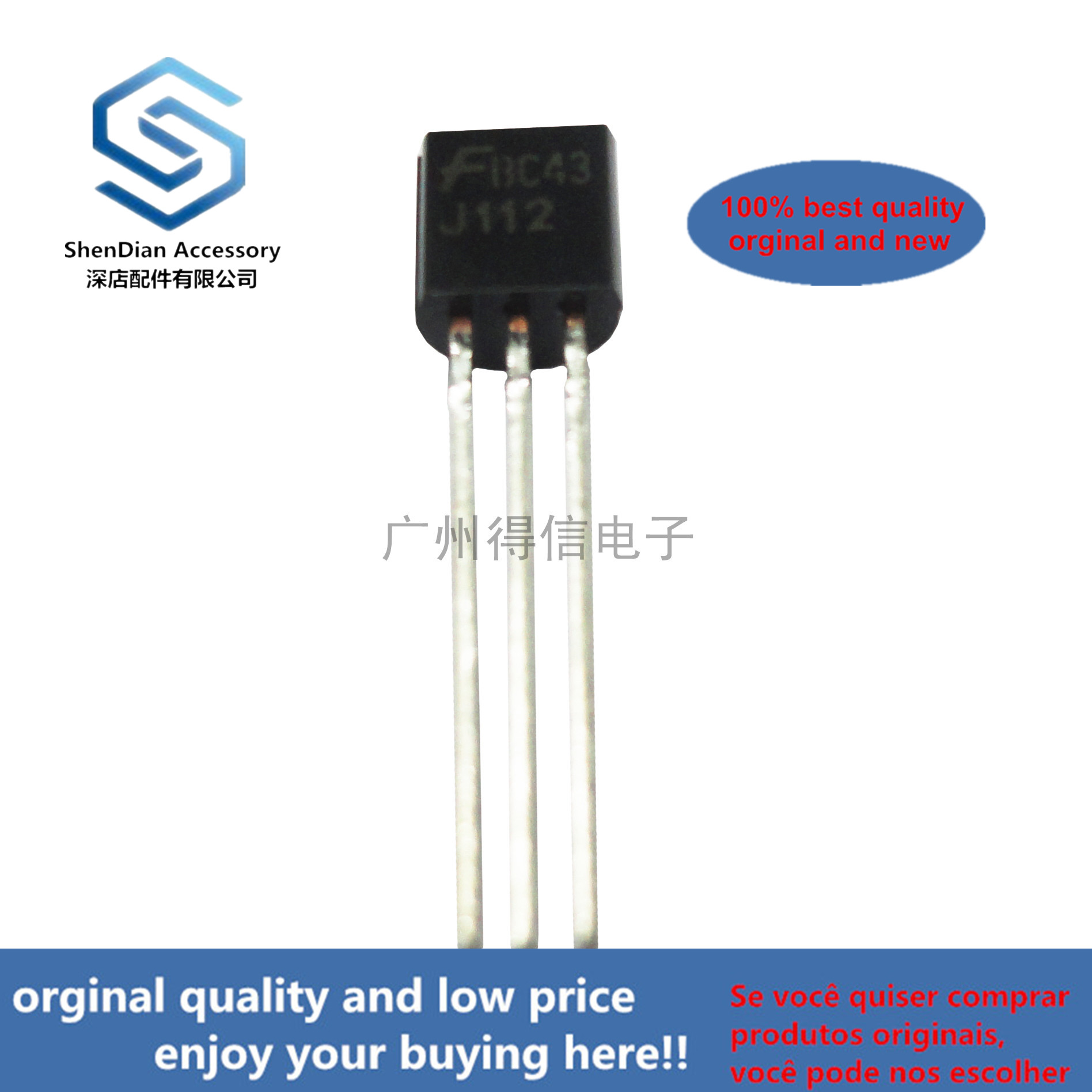 10pcs 100% Orginal New  J112 TO-92 JFET Chopper Transistor (N-Channel- Depletion) Real Photo