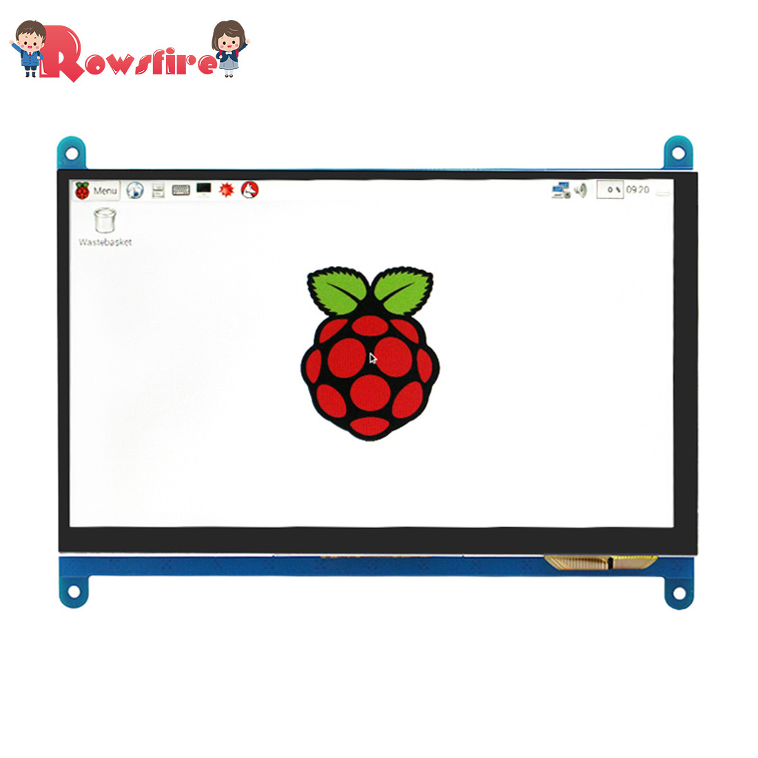 LCD Touch Viewing Screen With HDMI Cable And USB Cable For Raspberry Pi 3B+/3B/2B 7-Inch HD 800*480 Touch Display Screen