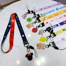 Cute cartoon pendant neckline phone lanyard For keys certificate gym mobile with USB badge holder DIY Phone Lanyard