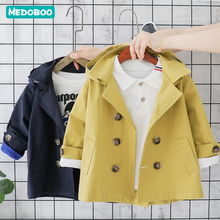 Medoboo Baby Coat Parka Girl Boy Trench Windbreaker Hooded Cotton Shelter Jacket Newborn Undershirts Solid Color