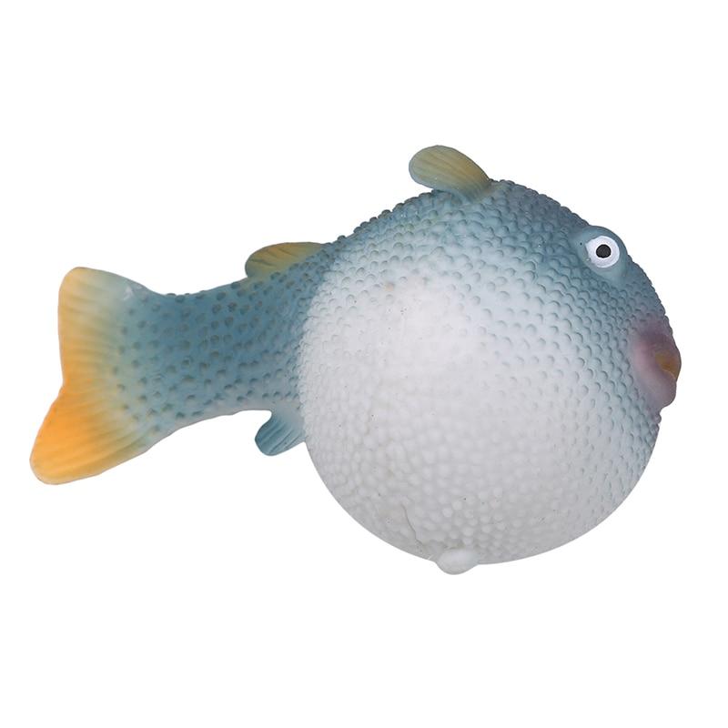 Glowing Effect Man-made Fish Luminous Ornament Underwater Decor silicone Fish Aquarium Artificial Artificial Puffer Fish Decor Pakistan