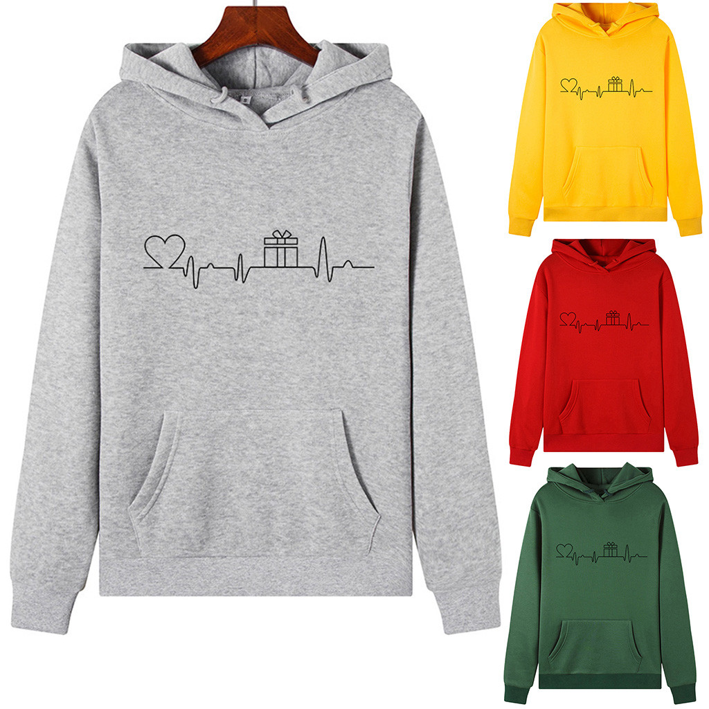 New Fashion Sweatshirts Women Long Sleeves Winter Hood Hoodies Harajuku Pullovers Tops O-neck Sweatshirt Tops Autumn