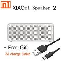Xiaomi-Altavoz Bluetooth 2 mi Square Box, Original, estéreo, portátil, de Metal, inalámbrico, para iphone, meizu, huawei, lenovo, oneplus