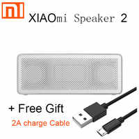 オリジナルシャオ mi Bluetooth スピーカー 2 mi 正方形ボックスステレオポータブル金属ワイヤレス iphone meizu huawei lenovo oneplus 用