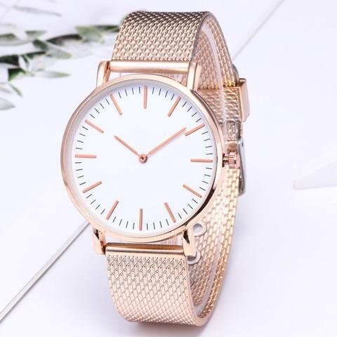 Fashion Women Watches Simple Romantic Rose Gold Strap Watch Women's Wrist Watch Ladies Clock relogio feminino zegarek damski