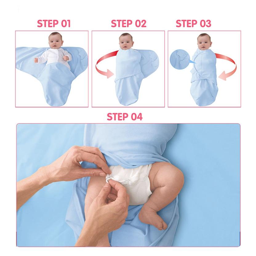 Novorojenček zavijte zavitje in klobuk bombaž dojenček prejme - Posteljnina - Fotografija 6