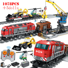 Toys Helicopter Train Building-Blocks Car-Truck-Station-Bricks Railway City-Track Technic