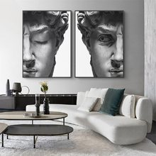 Nordic Black White David Head Sculpture Canvas Painting Posters Prints Quadros Wall Art Picture Living Room Home Decor Cuadros